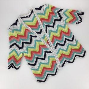 89th + Madison Chevron Pattern Knit Shrug, Small